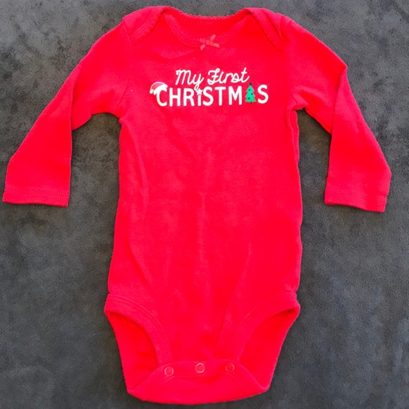 f4db385e3 Carter's Other - Baby Girls Carter's Baby's 1st Christmas Bodysuit